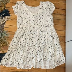 American Eagle white floral baby doll style dress